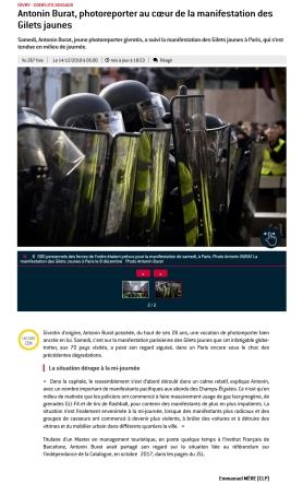 Le Journal de Saône-et-Loire, 14 décembre 2018